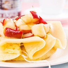 Apple and pancake