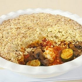 Vegetable Crumble Vegetarian Pie