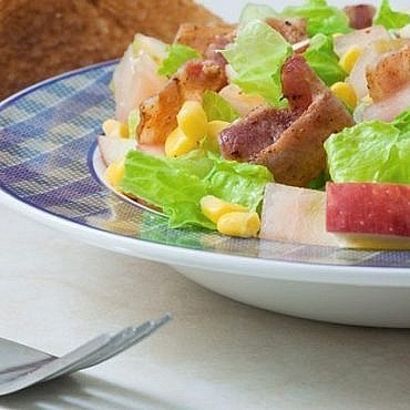 Salade pomme bacon