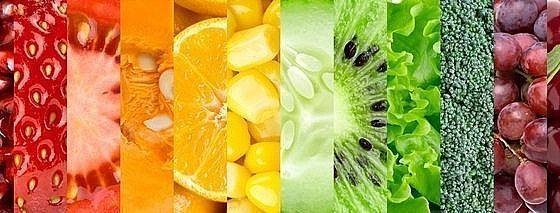 Сollection with different fruits and vegetables