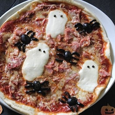 Pizza d'Halloween à la chicorée